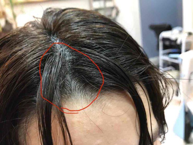 山口市 美容室 美容院 シューケット 前髪 割方法