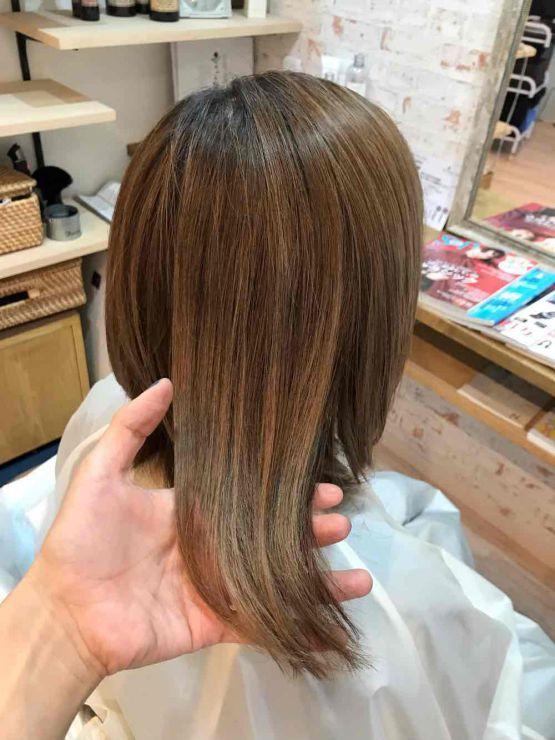 山口市 美容院 美容室 ヘアサロン シューケット【脱白髪染めを目指す】グレイヘア/白髪染め/やめる/途中/移行/作り方